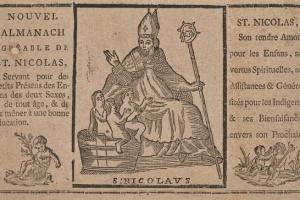65/2437   [Almanacs]. Nouvel Almanach agréable de Saint Nicolas, pour la p